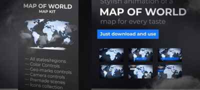 Map of World with Countries - Animated Map
