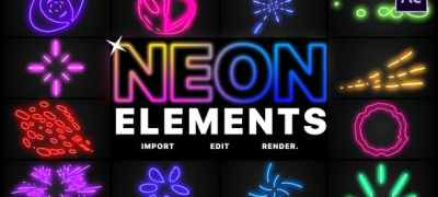 Neon Elements | After Effects