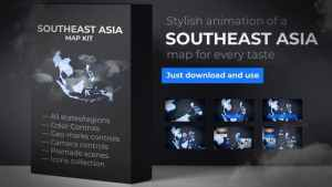 Southeast Asia Animated Map - Southeastern Asia Map Kit