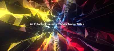 4K Colorful Cinematic Plexus Trailer Titles (2 Versions)