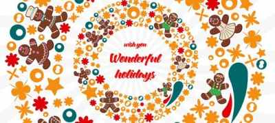 Christmas Flat Colorful Circles