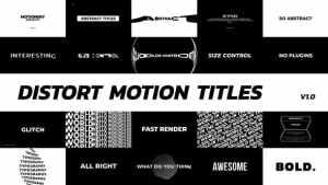 Distort Motion Titles