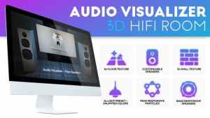 Audio Visualizer 3D Music Room