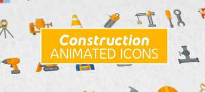 Construction & Painting Modern Flat Animated Icons