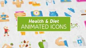 Health & Diet Modern Flat Animated Icons