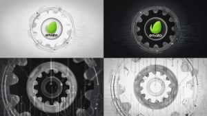 Futuristic Gears Logo Reveals