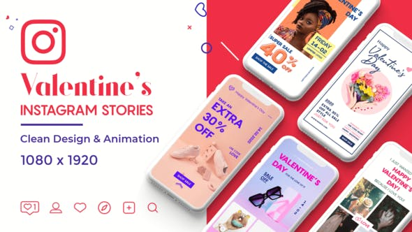 Download Valentine Instagram Stories – FREE Videohive