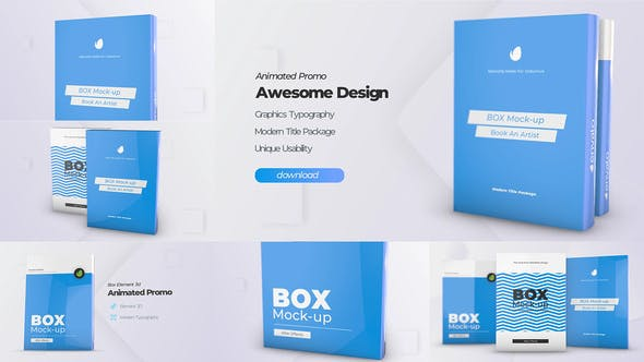 Download Box Product Pack Mockup Box Software Mock Up Cover Template Free Videohive After Effects Projects