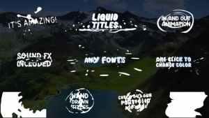 Cartoon Liquid Titles | After Effects