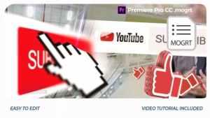 YouTube Opener // Premiere Pro | Mogrt