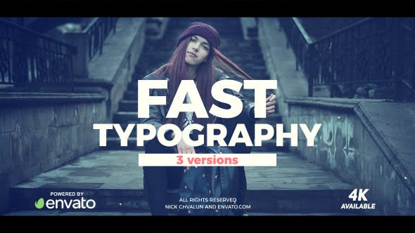 Download Fast Typography – FREE Videohive