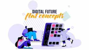 Digital Future - Flat Concept