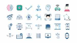 100 Artificial Intelligence Icons