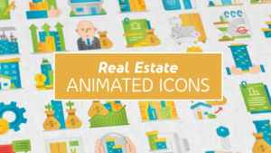 Real Estate Modern Flat Animated Icons