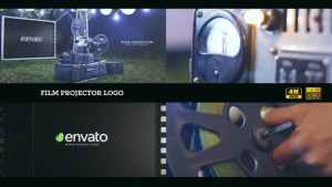 Film projector Logo 4K