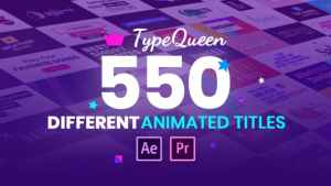 TypeQueen - Animated Title and Kinetic Text