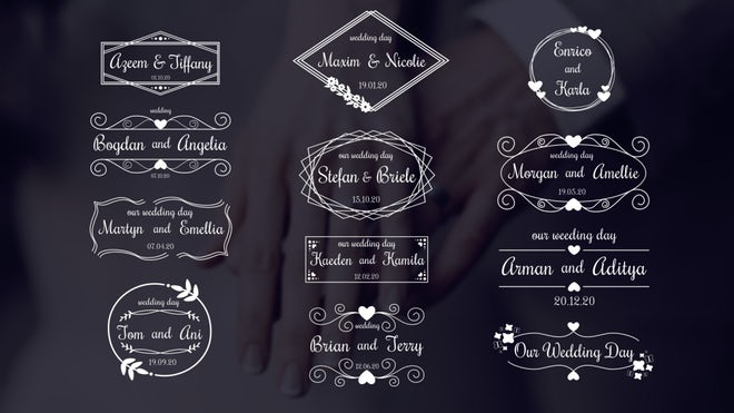 Download Wedding Titles Pack