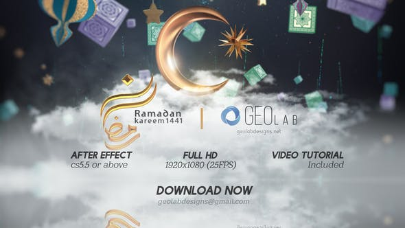Download Ramadan Kareem Titles l Ramadan Kareem Wishes l Ramadan Greeting l Ramadan Celebrations – FREE Videohive