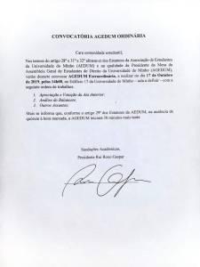 Convocatória AGEDUM