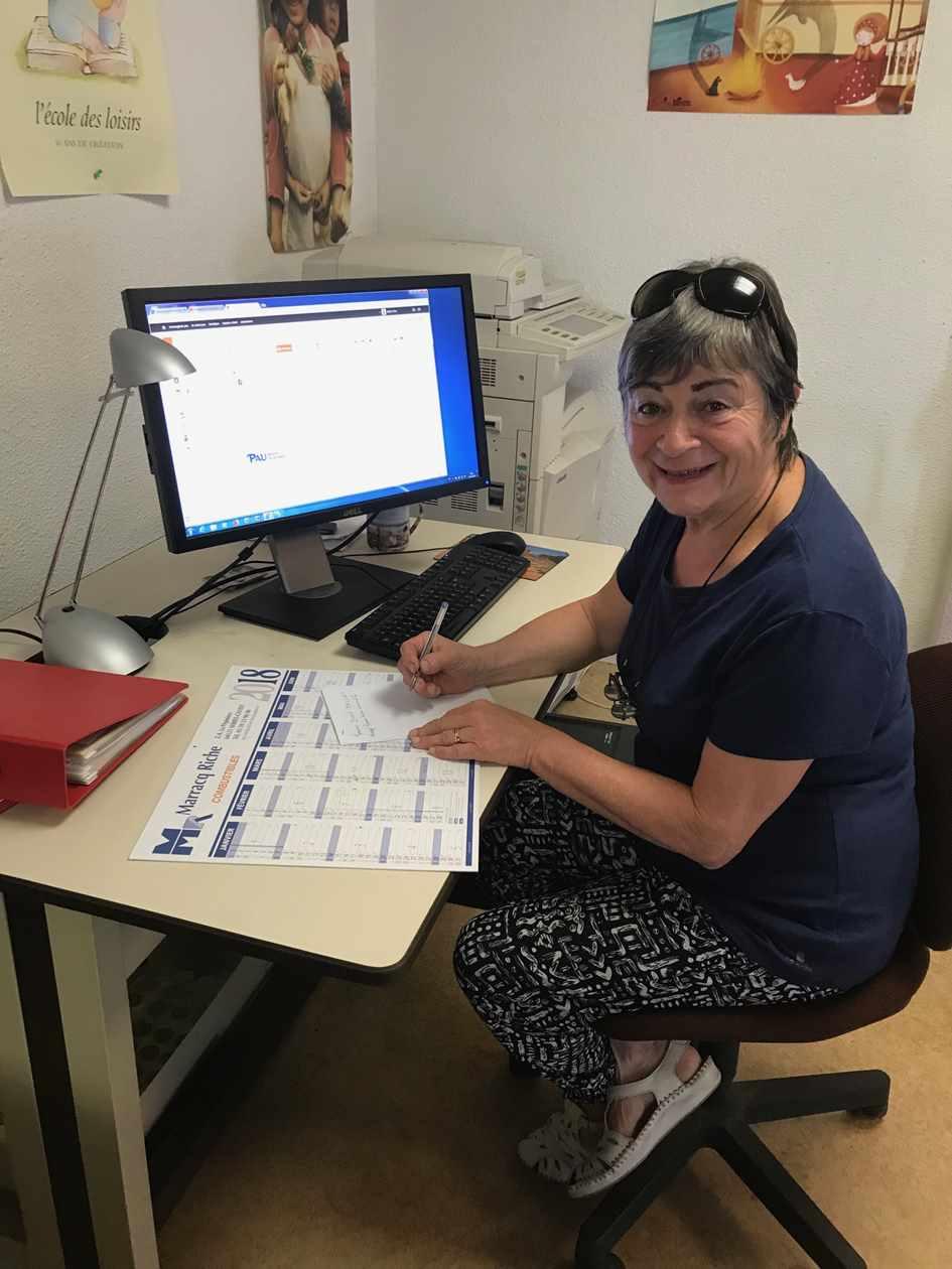 Annie Laffitte, secrétaire de l'AEEM Pau Béarn