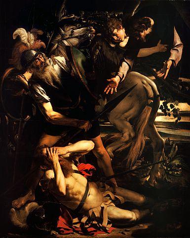 """""""A conversão de Saulo"""", por Caravaggio, 1600"""