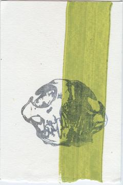 """letterpress monoprint 4"""" x 6"""", oil-based ink on somerset velvet paper $5.50 available for purchase on etsy"""