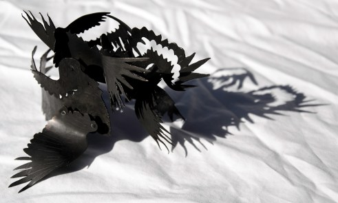 crow wings (sculpture)