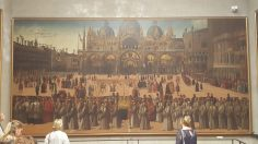 The Procession in Piazza San Marco by Gentile Bellini in the Accademia Museum, Venice