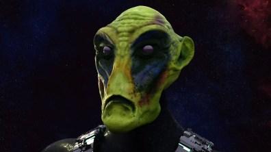 Alien head sculpt high detail