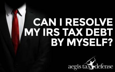 Can I Resolve My IRS Tax Debit By Myself?