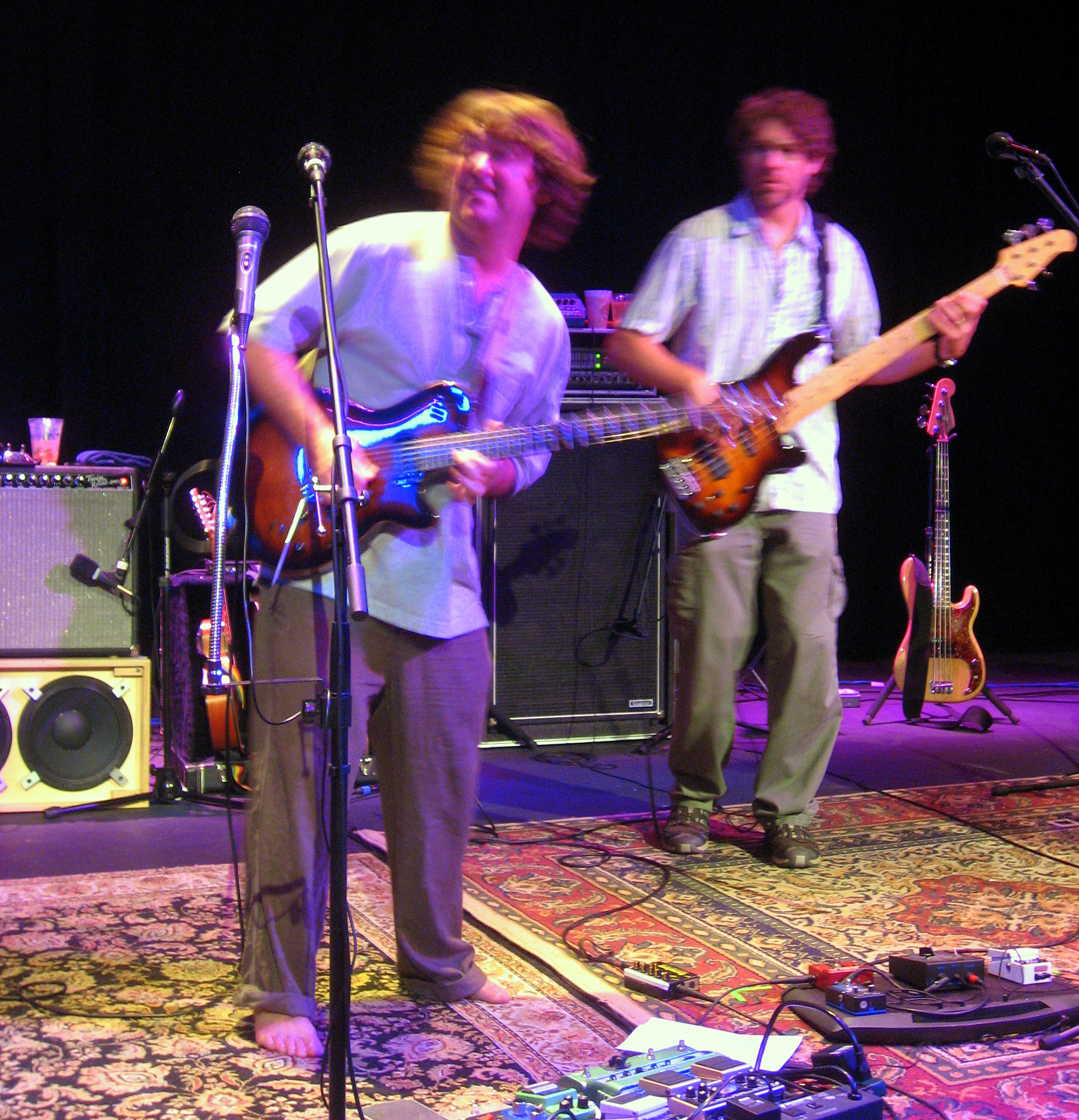 Keller Williams jams out at a past performance in Pennsylvania.