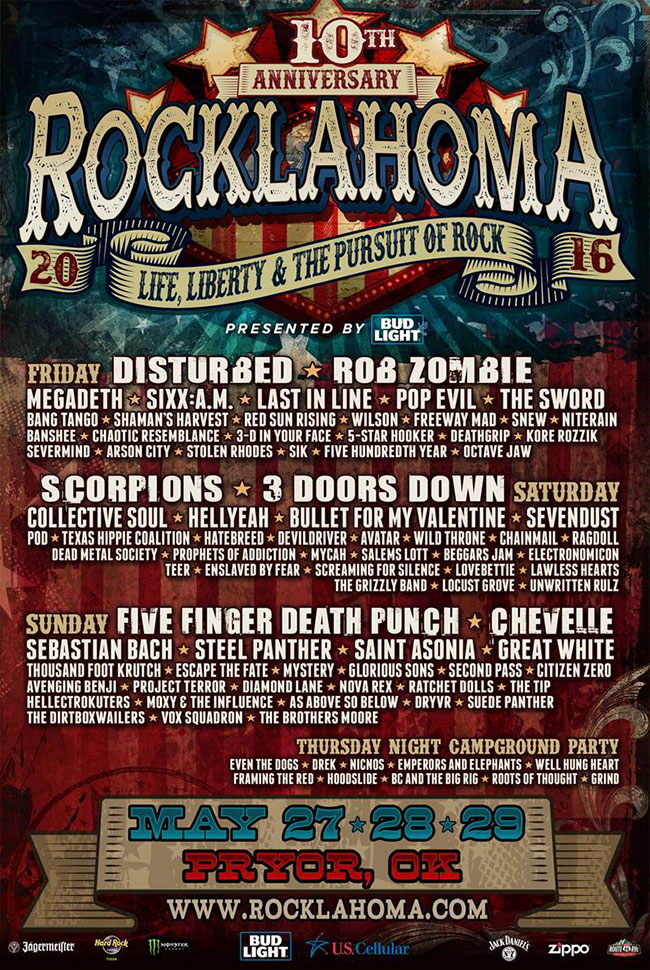Rocklahoma 2020 May 22 23 And 24 In Pryor Ok