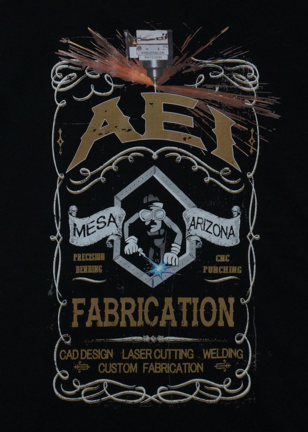 AEI Fabrication Shiner T-Shirt Black Rear View