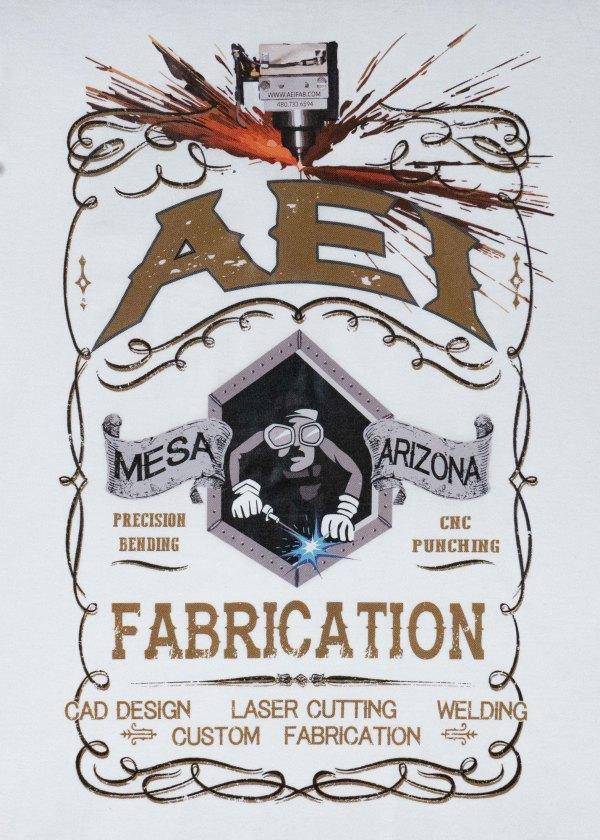 AEI Fabrication Shiner Womens T-Shirt White Rear View
