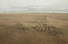 Sand patterns at Bayleys Beach, Kauri Coast (New Zealand's North Island).