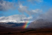 tongariro new zealand rainbow