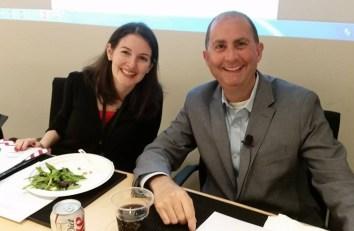 AEJMC PRD Head Tiffany Gallicano and Edelman's Steve Rubell