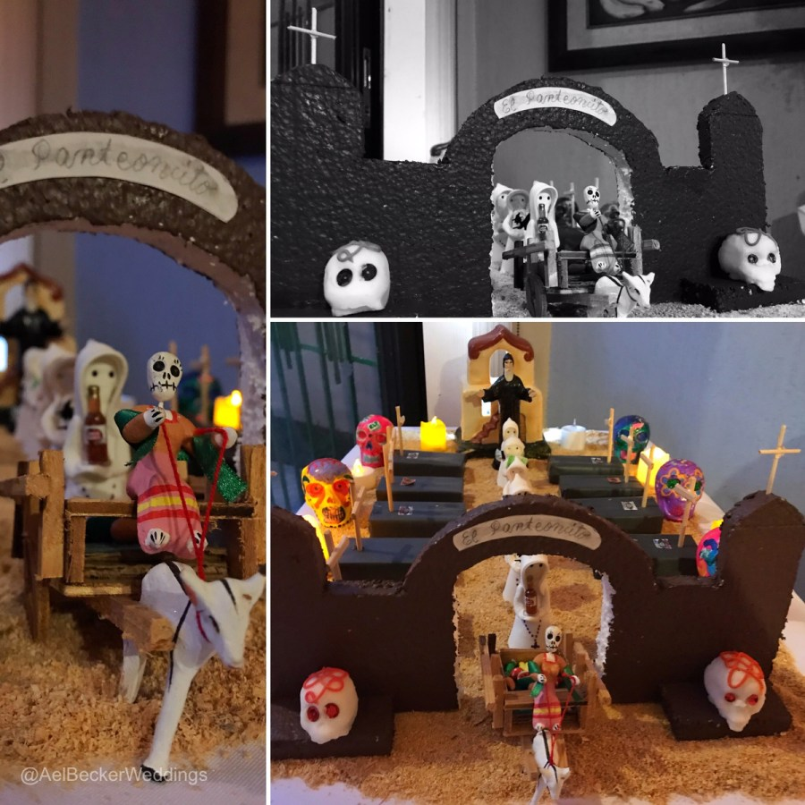 Creative cemetery for the Day of the Dead Celebrations in Cancun. Ael Becker Weddings
