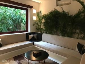 Living room area at Hotel Esencia Suite. Riviera Maya, Mexico