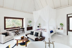 Chic room at Hotel Esencia, Xpuha Beach, Mexico