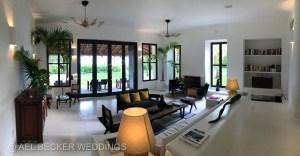 Living room area at Hotel Esencia Main House. Riviera Maya, Mexico