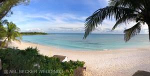 Xpuha Beach. View from Hotel Esencia, Mexico