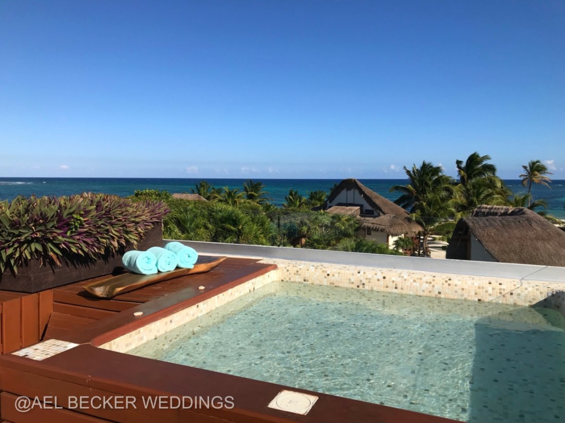 Mukan Resort's rooftop. Sian Ka'an, Mexico. Ael Becker Weddings