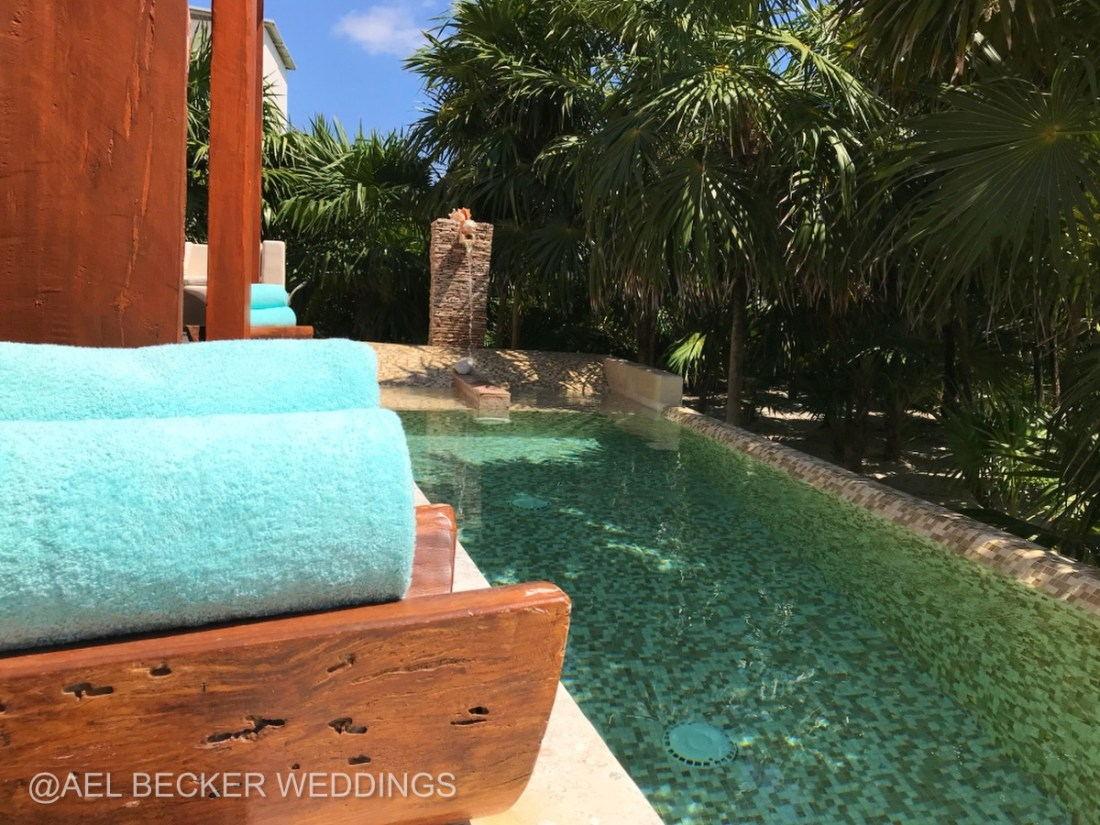 Mukan Resort, Main House Pool. Tulum, Mexico. Ael Becker Weddings