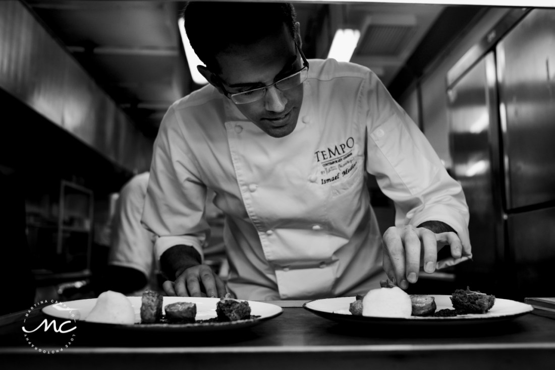 Chef Ismael Medina at Tempo by Martin Berasategui. Paradisus Cancun, MX. Martina Campolo Photographer