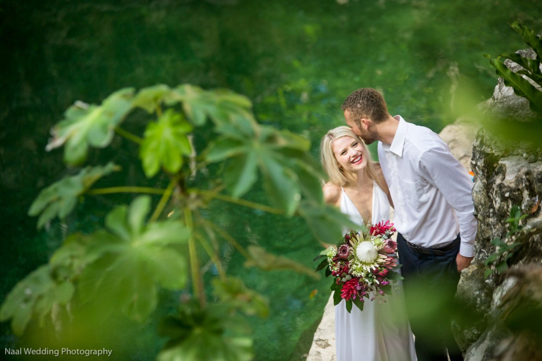 Cenote Elopement in Riviera Maya, Mexico. Naal Wedding Photography