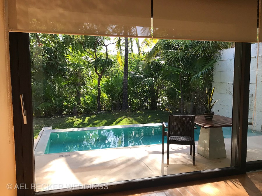 Private pool. Blue Diamond Luxury Boutique Hotel, Riviera Maya, Mexico. Ael Becker Weddings