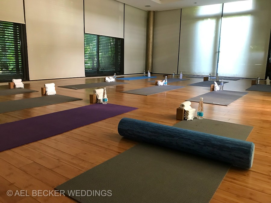 Yoga studio. Blue Diamond Luxury Boutique Hotel, Riviera Maya, Mexico. Ael Becker Weddings