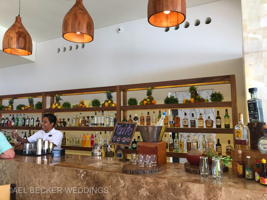 Hotel Xcaret Mexico, bar. Ael Becker Weddings