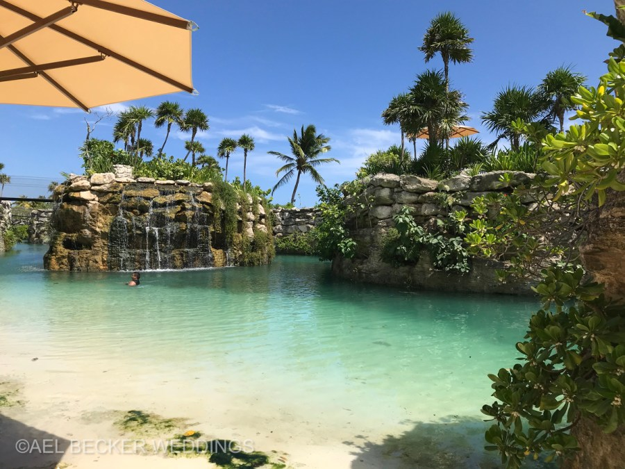 Hotel Xcaret Mexico, natural scenery. Ael Becker Weddings